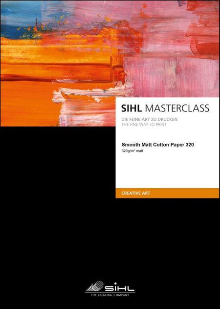 Fine Art paber Sihl Masterclass Smooth Matt Cotton 320 A2 / 25 lehte