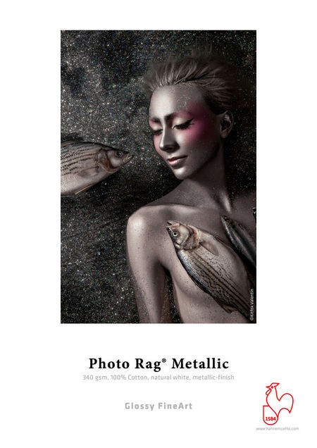 Fine Art paber Hahnemühle Photo Rag® Metallic 340 g/m² A3+ 25 lehte
