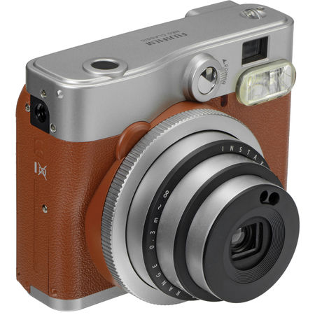 Fujifilm Instax Mini 90 NEO CLASSIC + 10 pack Glossy, Brown/Stainless steel